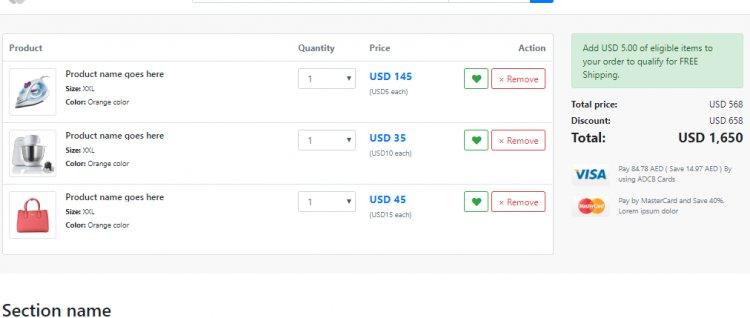 Alibaba clone HTML templates