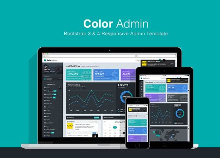 Color Admin HTML templates Nulled - ProWebLab