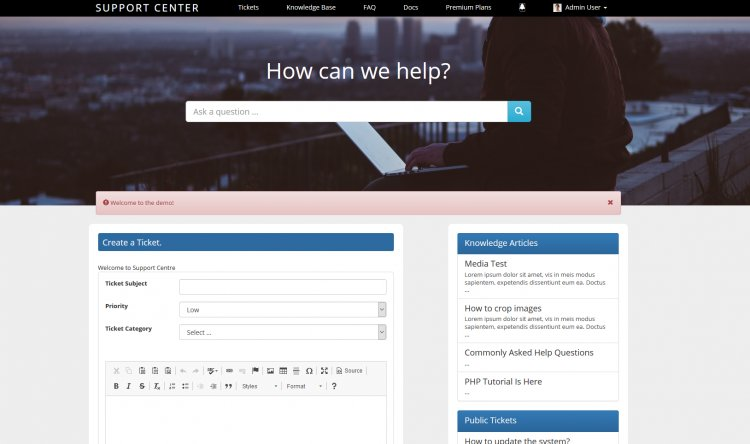 Support Centre - Advanced PHP Ticket System Nulled Бесплатно