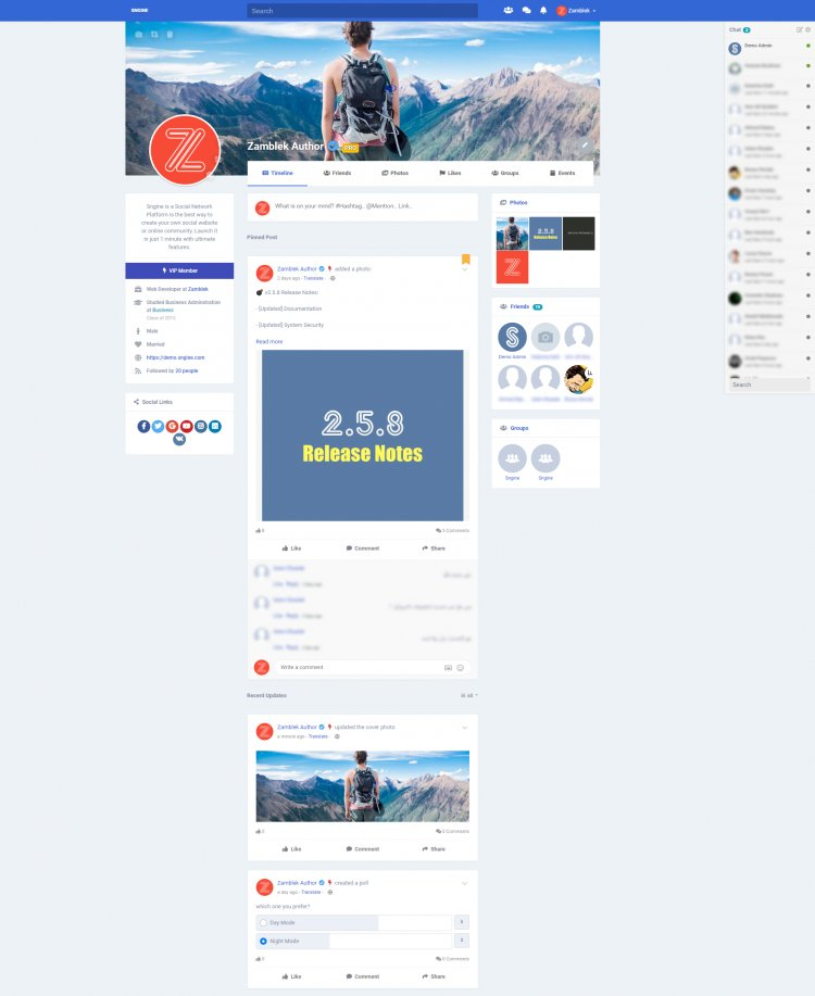 Sngine - The Ultimate PHP Social Network Platform Nulled
