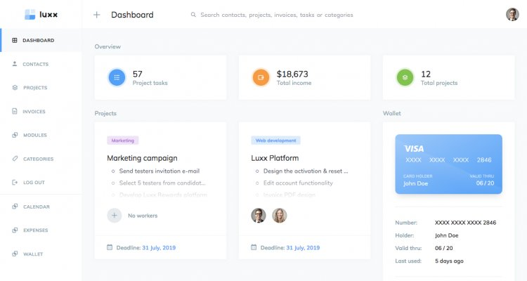 Luxx - Project Management System nulled