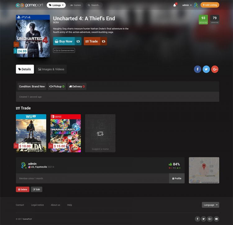 Exclusive GamePort - Video Game Marketplace Nulled