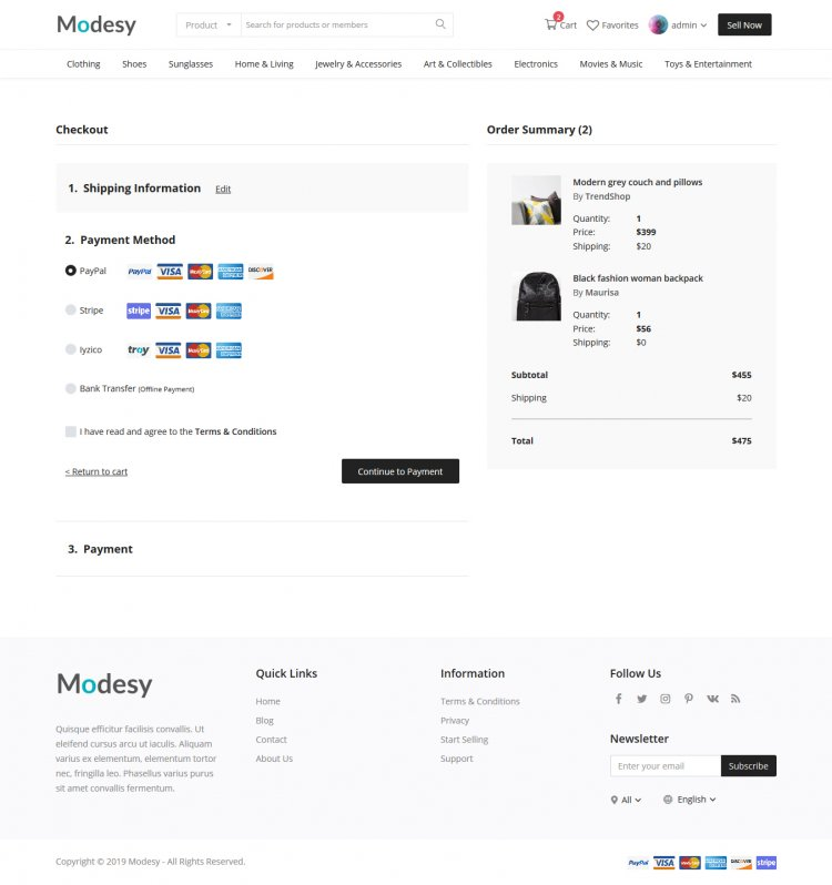 Modesy - Marketplace & Classified Ads Script Nulled