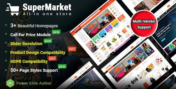 Supermarket - Responsive MultiPurpose HTML 5 Template Nulled