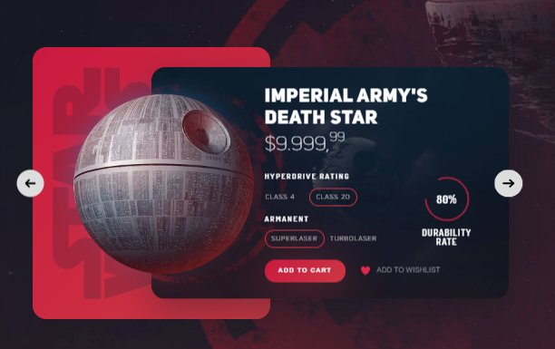 Best Product Card Star Wars HTML