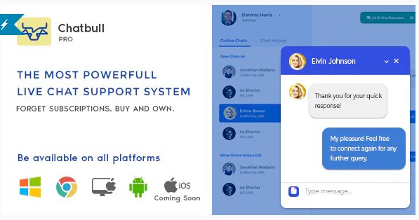 ChatBull Pro - PHP Live Chat Support with Desktop and Mobile App Nulled