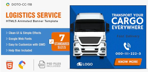 Transport & Moving HTML5 banner templates