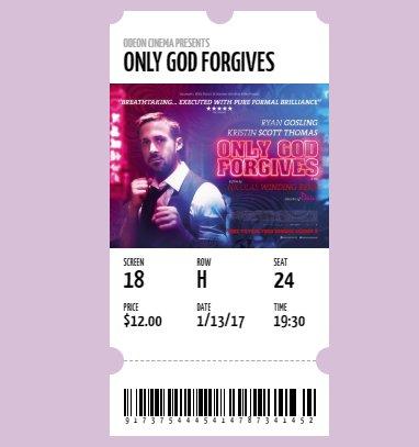 HTML CSS Movie Ticket