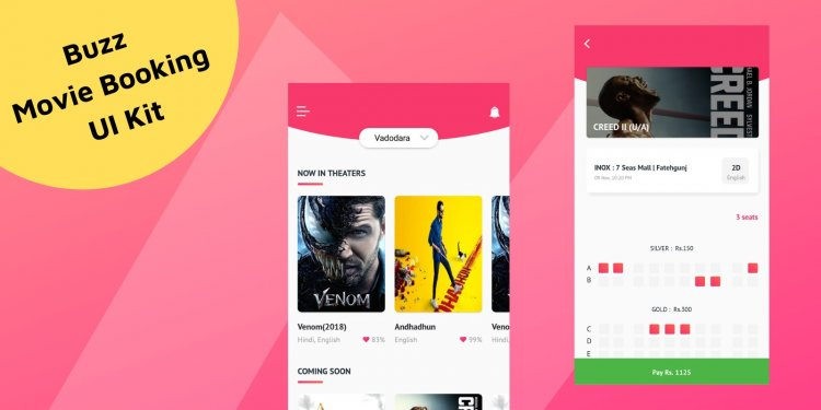 Buzz - Android Studio Movie Booking UI Kit Nulled