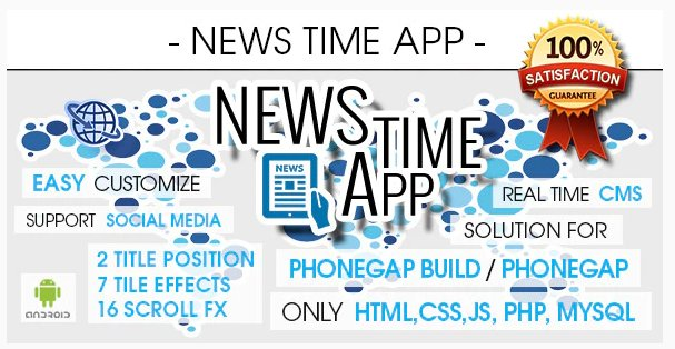News Time App With CMS - Android FREE