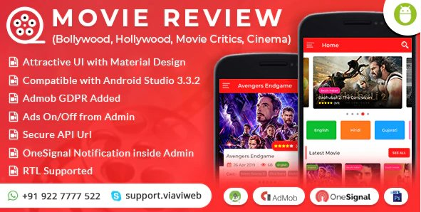 Android Movie Review App (Bollywood, Hollywood, Movie Critics, Cinema) V1.0 Nulled