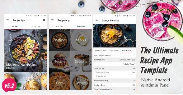Ultimate Recipe App Template Nulled