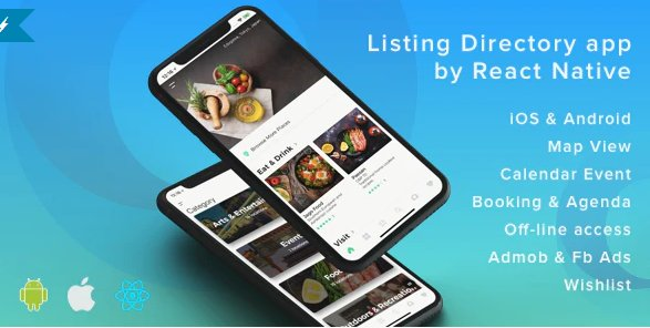ListApp - Listing Directory mobile app by React Native Free