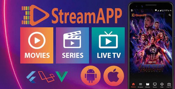 StreamApp - Streaming Movies, TV Series and Live TV - Flutter Full App with Admin Panel Nulled