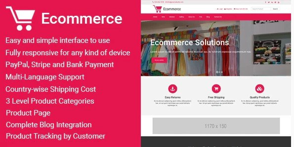 Ecommerce - Responsive Ecommerce Business Management v1.5
