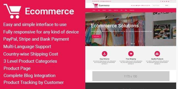 Ecommerce - Responsive Ecommerce Business Management v1.5