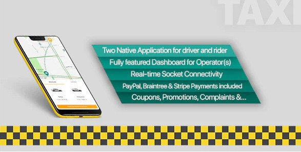 Taxi application Android solution + Dashboard v3.0.7 Nulled