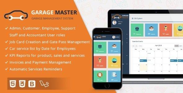 Garage Master - Garage Management System Nulled
