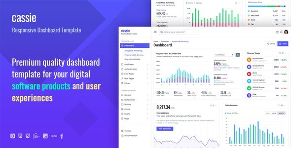CASSIE 1.0 — RESPONSIVE DASHBOARD AND ADMIN HTML5 TEMPLATE Nulled