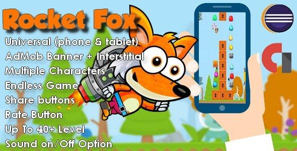 Rocket Fox Universal + Admob App Game Nulled