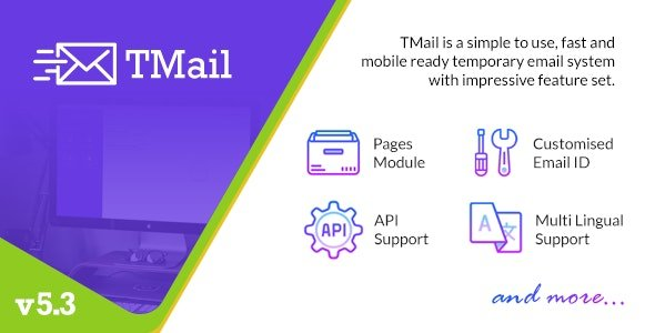 TMail v6.3 - Multi Domain Temporary Email System Nulled