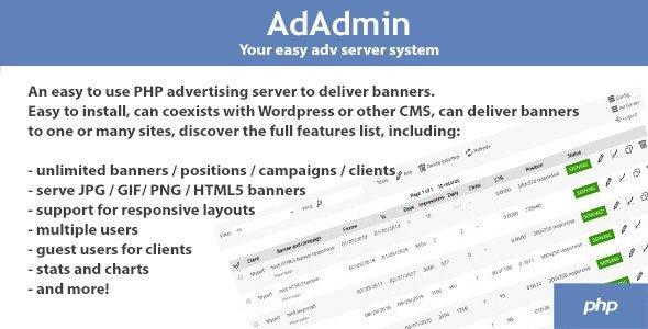 AdAdmin v3.80 - Easy ads server Nulled