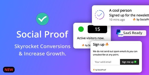 Social Proof v1.5.1 Skyrocket Conversions & Growth Nulled