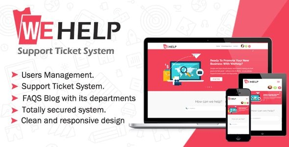 WeHelp v3.5 - Ticket Support System Nulled