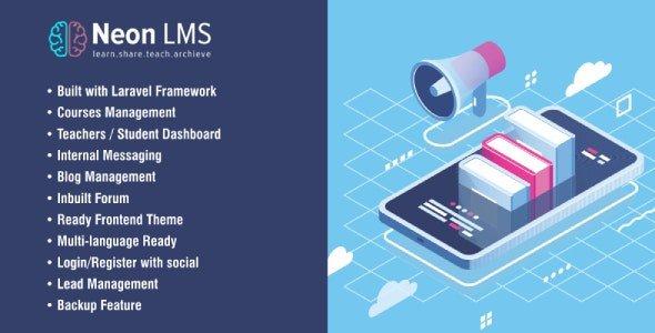 NeonLMS - Learning Management System PHP Laravel Script v2.1.8 Nulled