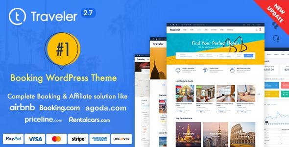 Travel Booking WordPress Theme v2.7.7 Nulled
