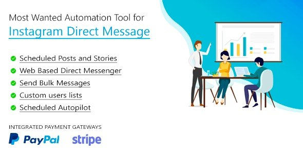 DM Pilot — Most Wanted SaaS Automation Tool for Instagram Direct Message v4.0.4 Nulled