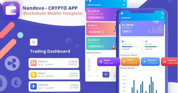 Nandova - Blockchain App & Crypto Wallet Mobile Template Nulled