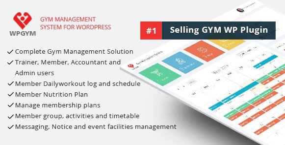 WPGYM - Wordpress Gym Management System V35.0 Nulled