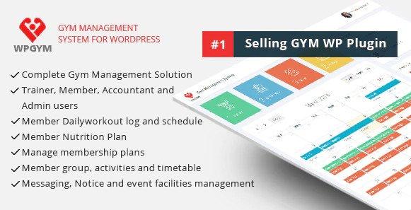 WPGYM - Wordpress Gym Management System V35.0 Nulled