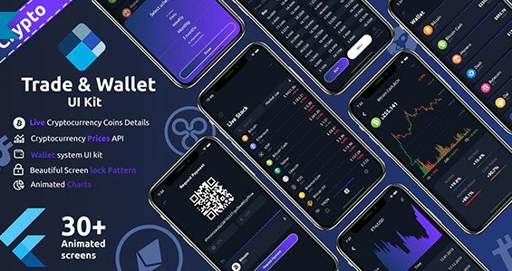 Crypto Trade & wallet Flutter UI kit Nulled