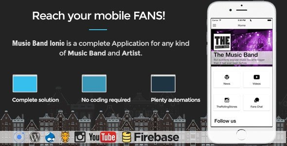 Music Band Ionic 3 - Full Application v17 Nulled