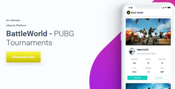 BattleWorld - PUBG Tournament App with Admin Panel Free