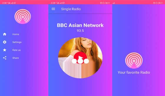 Single Radio android Radio app + admob