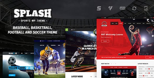 SPLASH V4.0.2 - Sport WordPress Theme Nulled