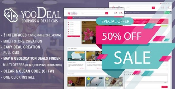 YooDeal v1.2.1 - Coupon, Deal & Online Quotation Nulled