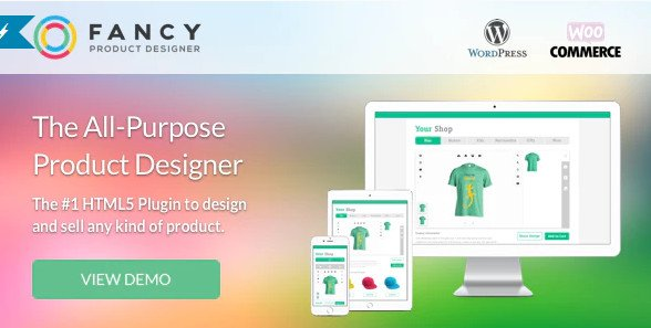 Fancy Product Designer v4.1.4 WooCommerce WordPress Nulled