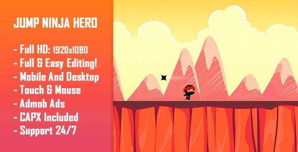 Jump Ninja Hero - HTML5 Game + Mobile Version! Nulled