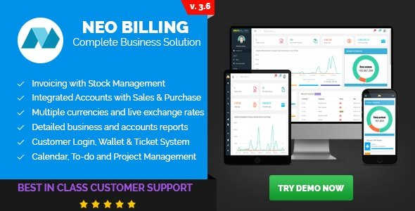 Neo Billing v3.6 - Accounting, Invoicing And CRM Software Nulled