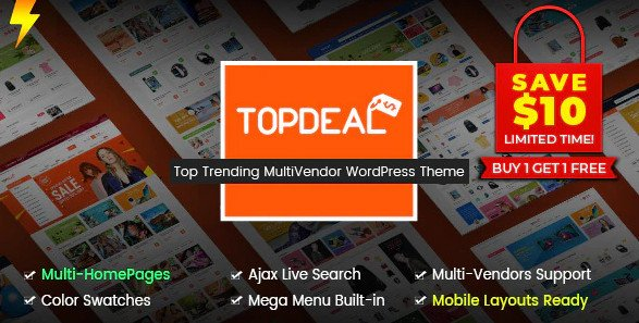 TopDeal - Multi Vendor Marketplace WordPress Theme (Mobile Layouts Ready) v1.6.12
