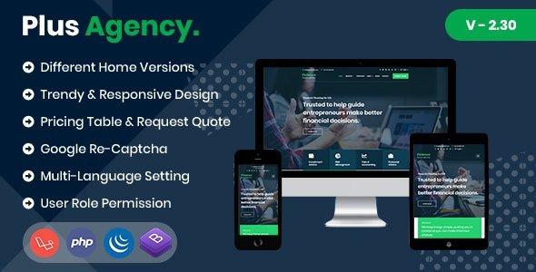 PlusAgency v2.30 - Business Agency CMS & Website Management System Nulled
