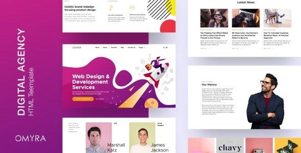 Omyra - Digital Agency HTML Template v1.0 Free