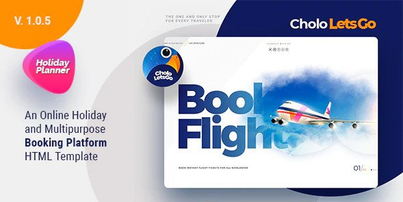 Cholo | A Online Holiday And Multipurpose Booking Platform HTML Template Free