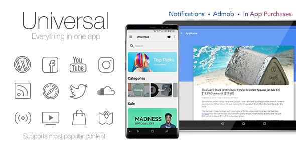 Universal - Full Multi-Purpose Android App v4.4 Free