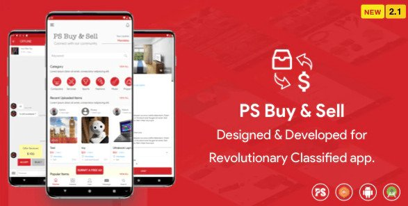 PS BuySell ( Olx, Mercari, Offerup, Carousell, Buy Sell ) Clone Classified App v3.0 Free
