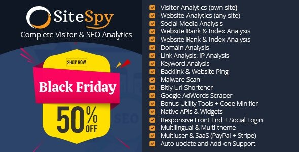 SiteSpy v5.1.3 - The Most Complete Visitor Analytics & SEO Tools Nulled